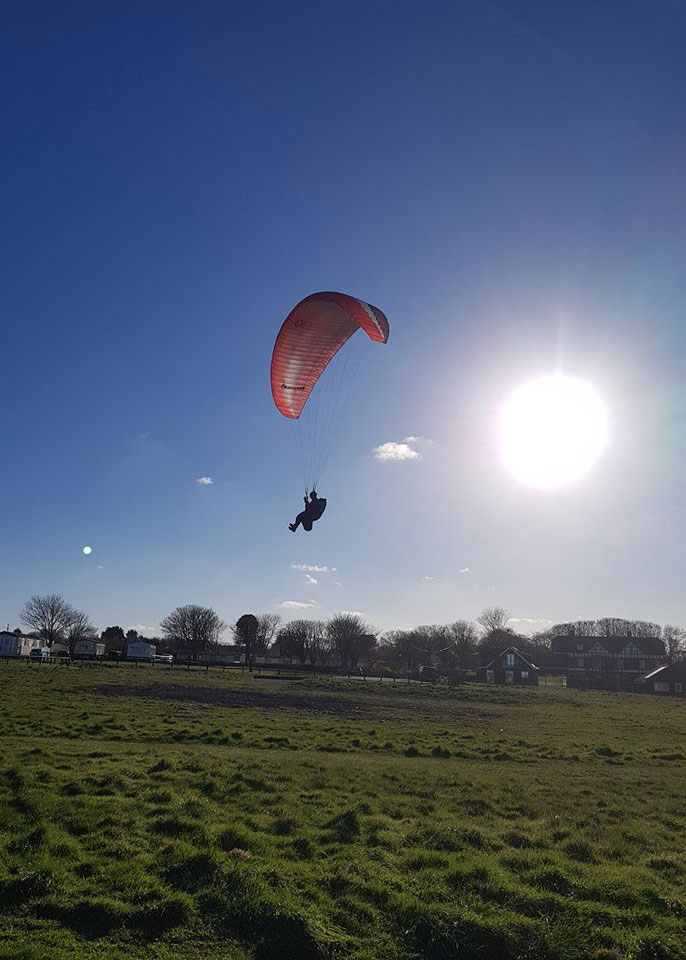 Paragliding over Yorkshire