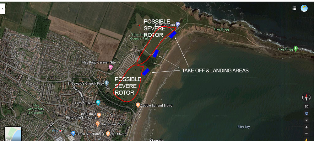 Pargliding-Filey-Map